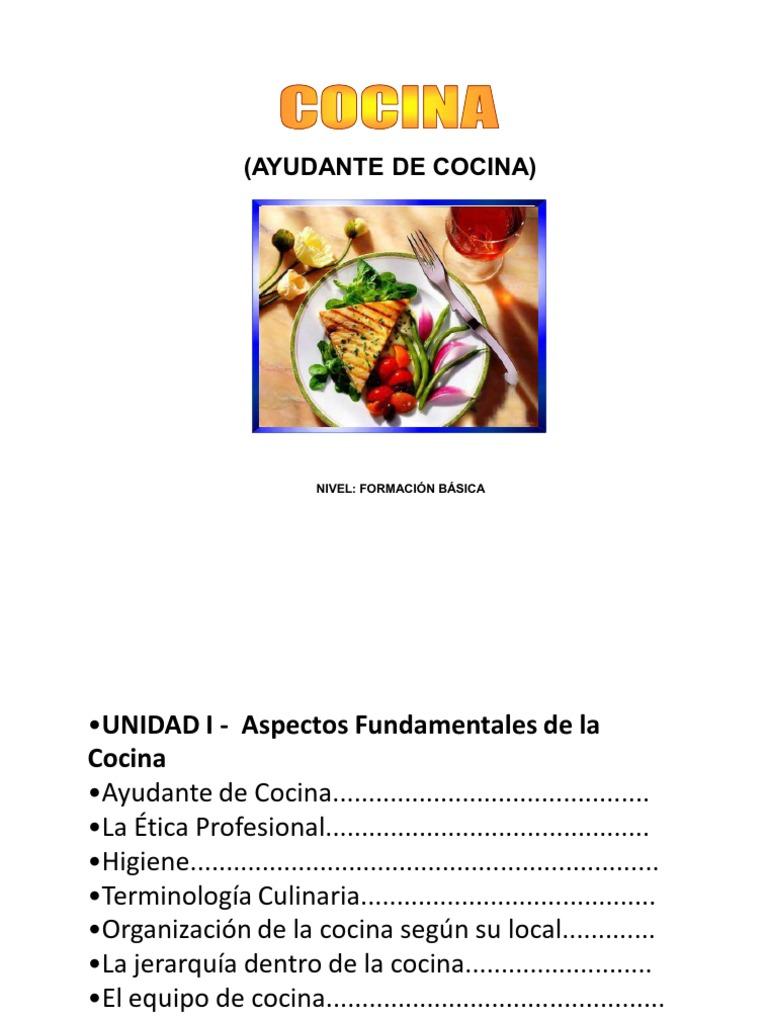 I Basico de Cocina Unidad I