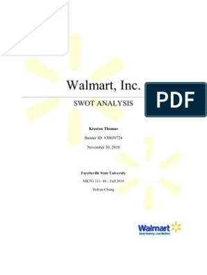 Walmart SWOT Analysis | Walmart | Target Corporation