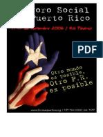 Primer Foro Social de Puerto Rico / Programa General