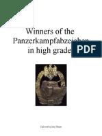 Panzer Assault Badge, High Grades, Winners