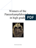 Panzer Assault Badge, High Grades, Winners