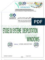 ETUDE DU SYSTEME D'EXPLOITATION WINDOWS