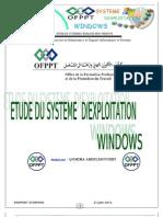 ETUDE DU SYSTEME D'EXPLOITATION WINDOWS
