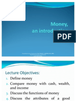 INTFINA Lecture 1 Introduction to Money