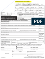 Vehicle Title Application