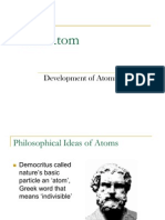 Dev't of Atomic Theory