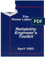 Rome Laboratory Reliability Engineer's Toolkit,  April 1993
