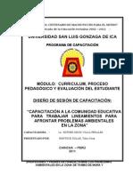 DOC. TAREA 8  DISEÑO DE SESIÓN AMBIENTAL CAPACITACIÓN