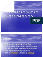Pharmacology of Sulphonamides