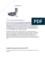Arquitectura General de Un Torno CNC