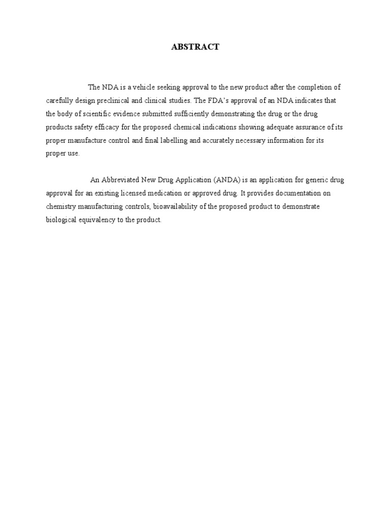 New Drug Application Hardcopy   Clinical Trial