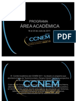 Programa área académica