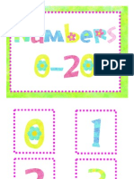 Spring Math Numbers 0 to 20