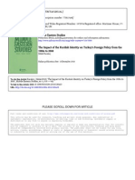 """Jülide Karakoç """"The Impact of the Kurdish Identity on Turkey's Foreign Policy from the 1980s to 2008"""" Middle Eastern Studies  Volume 46, Issue 6, 2010, Pages 919 - 942"""