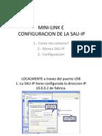 Configuracion de Mini-link e Sau Ip