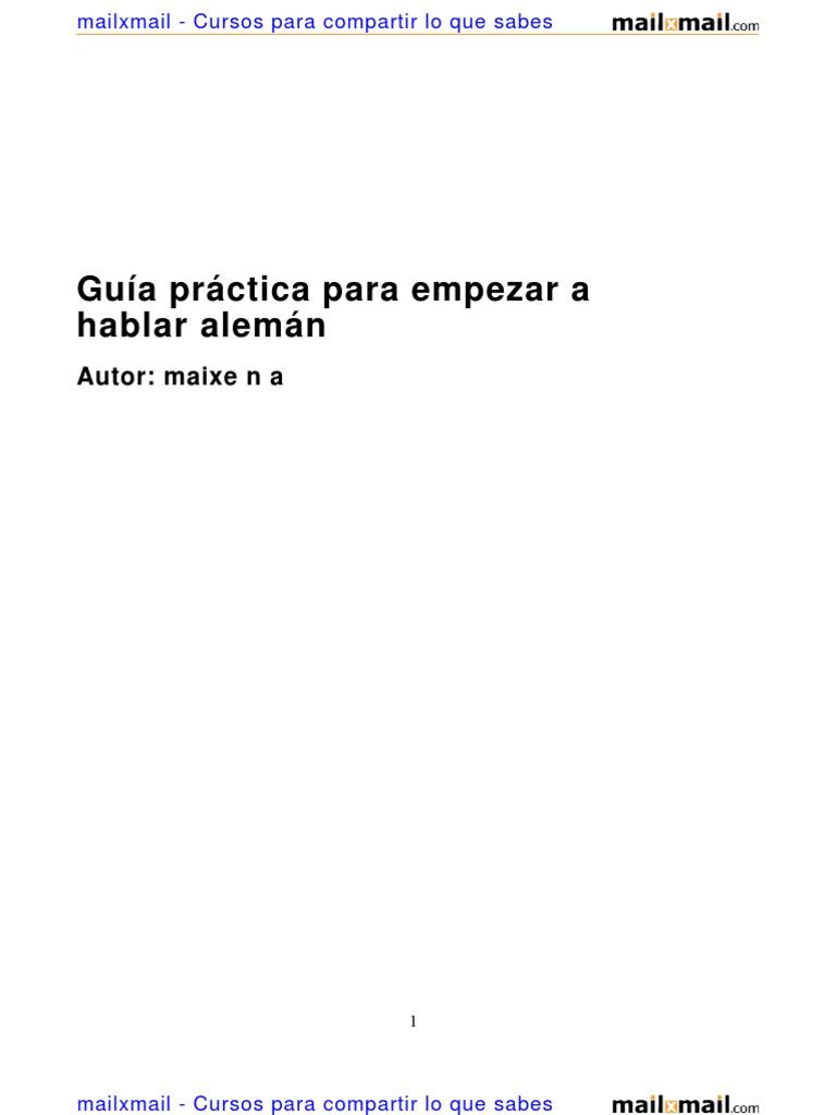Guia Practica Empezar Hablar Aleman 14819 Completo