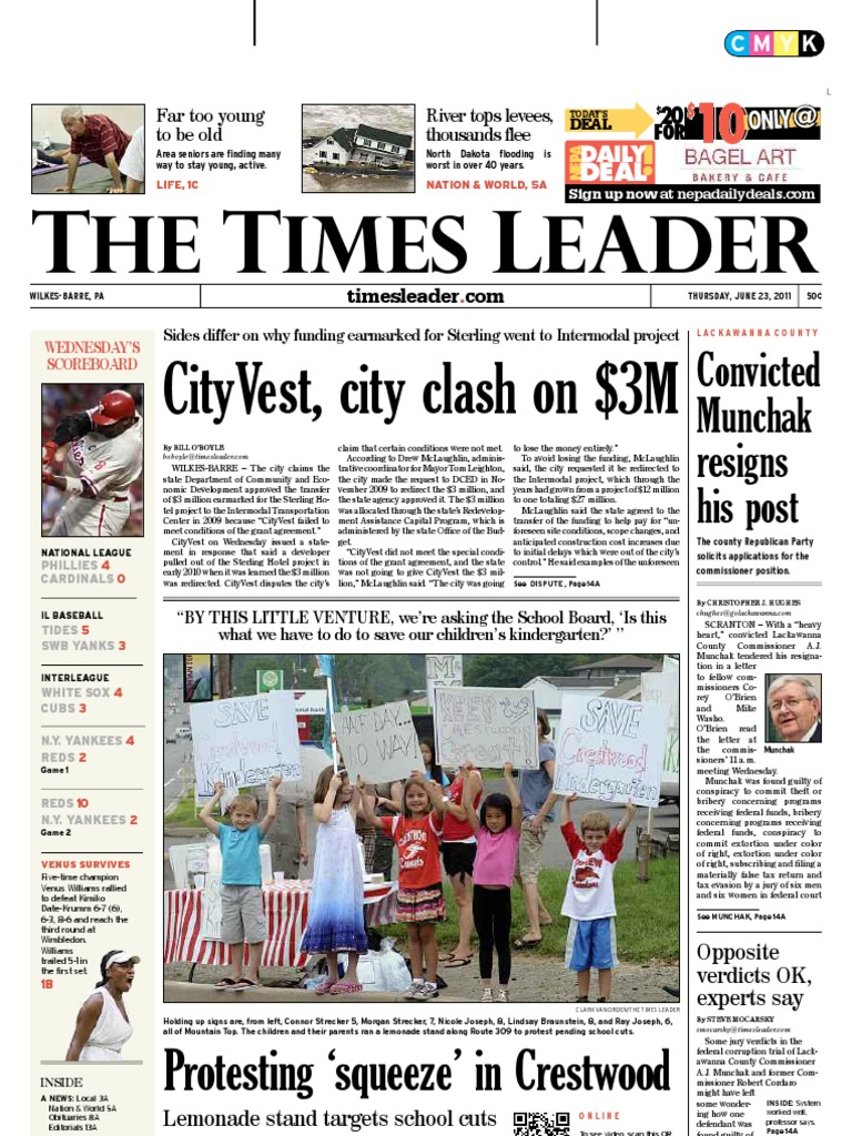 c1ade2b02e Times Leader 06-23-2011 | Payroll | Wilkes Barre