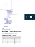 Minimum Electrical Clearance. « Electrical Notes & Articals