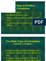 Fertilizer Calculations