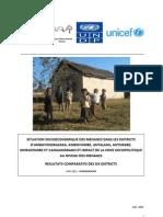 Situation socioéconomique des ménages dans les Districts D'Ambatondrazaka, Ambovombe, Antalaha, Antsirabe,Morafenobe et Vangaindrano et impact de la crise sociopolitique au niveau des ménages (PADR, ROR, UNDP, UNICEF/2011)
