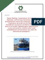 Flottille libanaise aspire à une confrontation violente