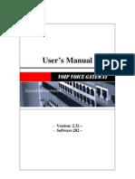 Soundwin Gateway User Manual Uni