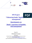 SPI Albania Liquidity Questionnaire on Bank Experiences