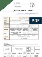 Summary of the Book of 1 Samuel