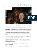 Models of Diversity Founder Angel Sinclair Appointed Vice President of Advance Centre for the Scotson Technique Charity