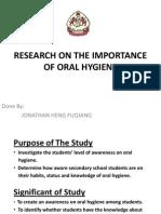Oral Hygiene Presentation