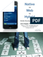 Native vs Mobile Web vs Hybrid Apps for Mobile Development