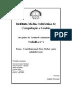Teoria de Administracao_Contribuição de Max Weber  para administração