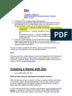 Zen for Drupal7 Installation