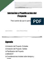 Iniciacion y Planificacion Del Proyecto
