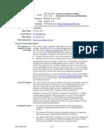 UT Dallas Syllabus for sce5v06.0i1.11u taught by Rebekah Nix (rnix)
