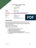 UT Dallas Syllabus for engr3302.0u1.11u taught by P Rajasekaran (pkr021000)