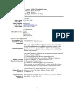 UT Dallas Syllabus for cs4347.0u1.11u taught by Rekha Bhowmik (rxb080100)