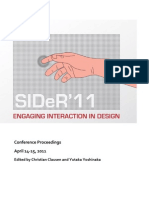 SIDeR2011 Proceedings