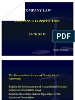 Lecture 12 Co. Law AA and MA