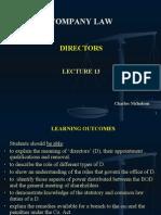 Lecture 13 Co. Law Directors