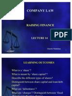 Lecture 14 Raising Finance