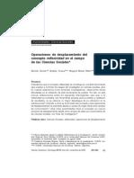 Operaciones de desplazamiento del concepto reflexividad en el campo de las Ciencias Sociales. bertoldi