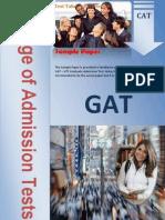 GAT Sample Paper