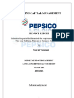 29500167 Working Capital Management of PEPSICO Sudhir Project(2)