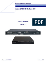 LTRT-83305 Mediant 600 Mediant 1000 SIP User Manual Ver 5.8
