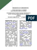 Lab. Organica Propiedadesdeloscarbohidratos