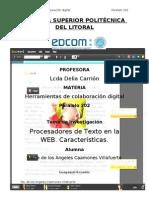 Procesadores de Texto en Internet