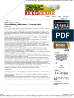 22-Junio-2011 Entre Minas y Misiones