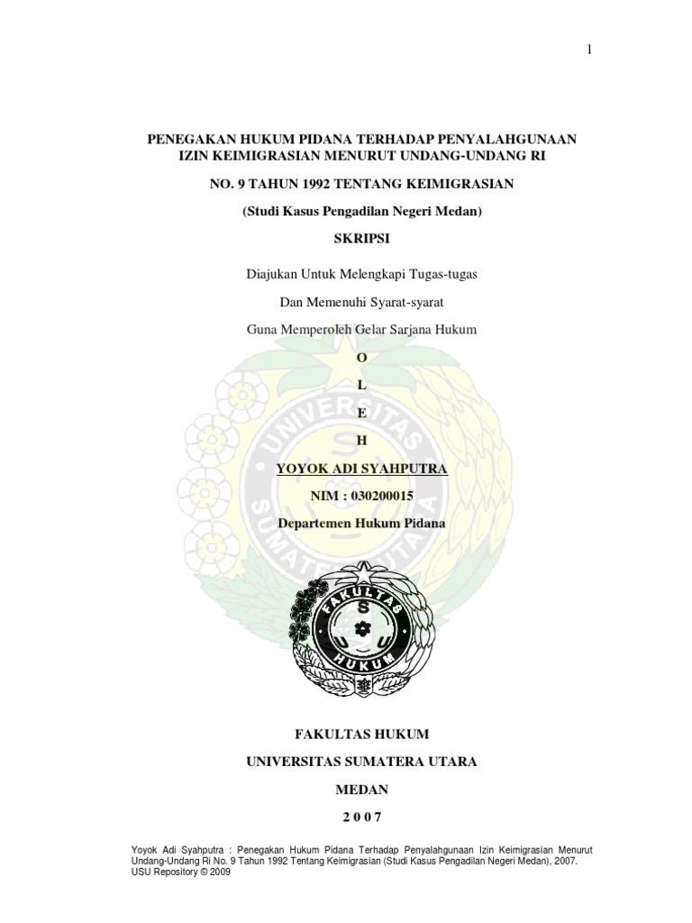 Jurnal Skripsi Hukum Usu