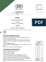 A2AS BIOL PP MayJune 2009 as 1 Module 1 Cell Biology 5560